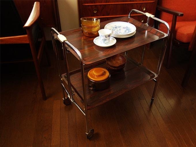 北欧ビンテージ家具 折り畳み式ワゴン