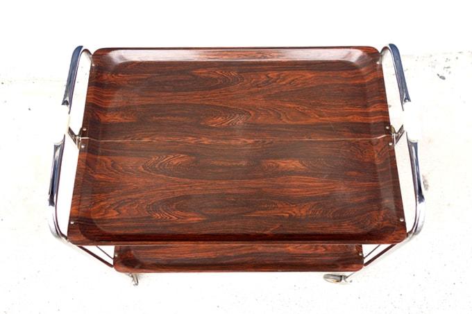 木製トレー折り畳み式ワゴン
