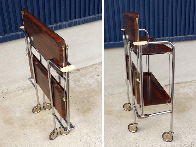 折り畳み式キッチンワゴン 木製トレー