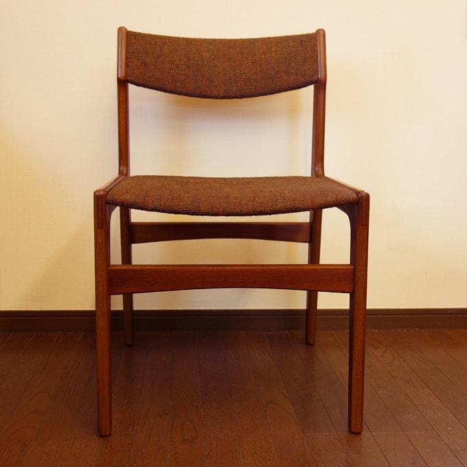 北欧ビンテージ椅子 ブラウン