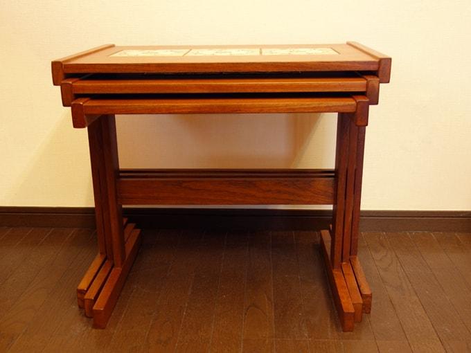 ビンテージ タイルテーブル3個