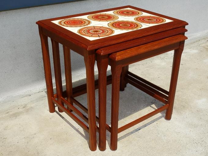 レトロなネストテーブル 北欧家具