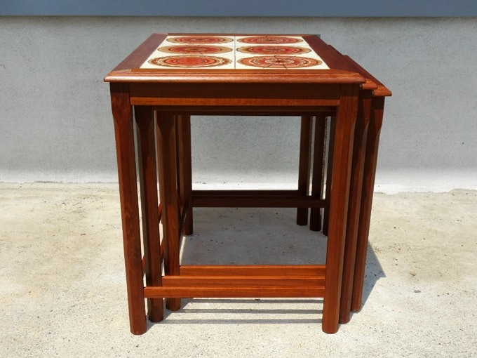 3個組ネストテーブル 北欧ビンテージ家具