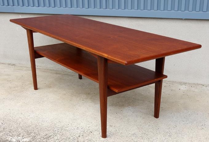 ビンテージ家具 コーヒーテーブル チーク