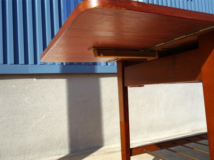 北欧バタフライテーブルの天板拡張部詳細