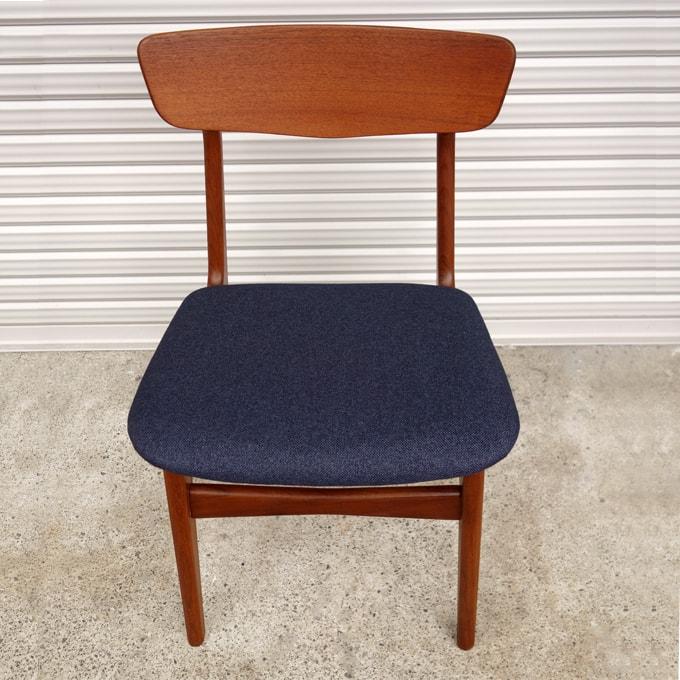 北欧ヴィンテージ椅子 ネイビーブルー