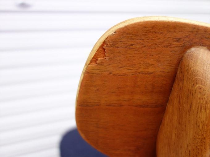 木製椅子背もたれ 状態