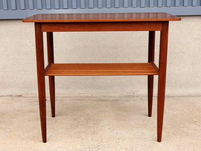 ヴィンテージ木製サイドテーブル