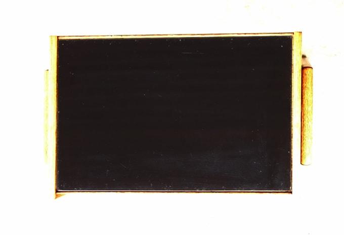 ヴィンテージサイドテーブル 黒ガラス天板