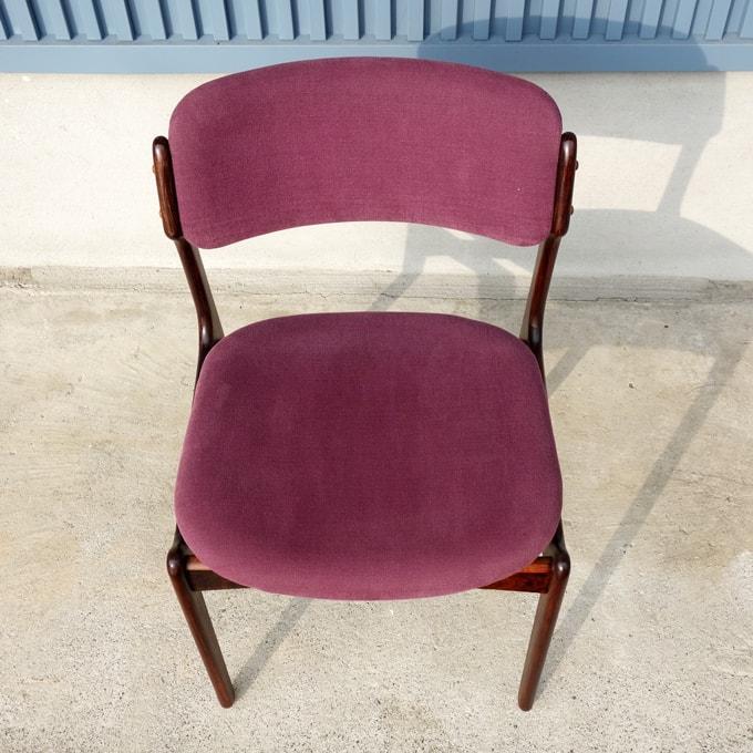 ヴィンテージ椅子 紫ファブリック座面