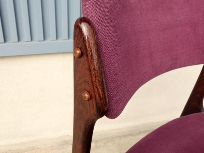 ローズウッド椅子 北欧ヴィンテージ