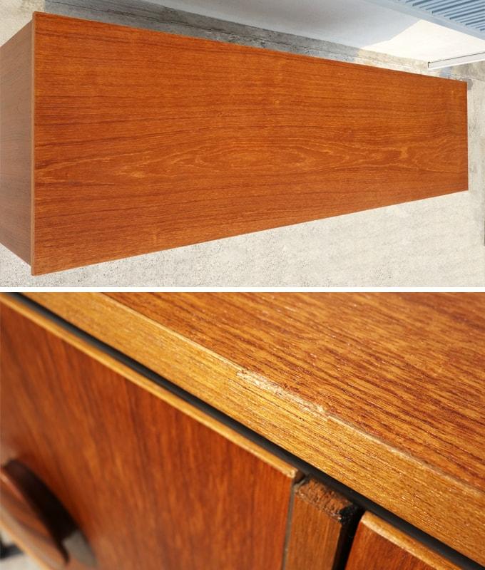 ヴィンテージ木製サイドボード 上部