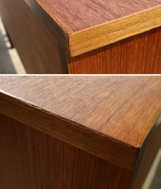 ヴィンテージ木製サイドボード 角