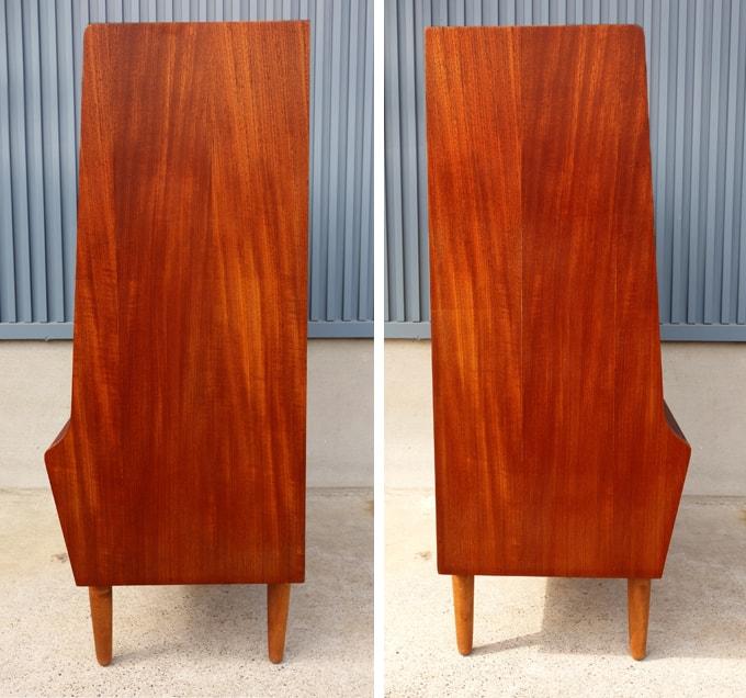 北欧ビンテージ木製チェスト 側面