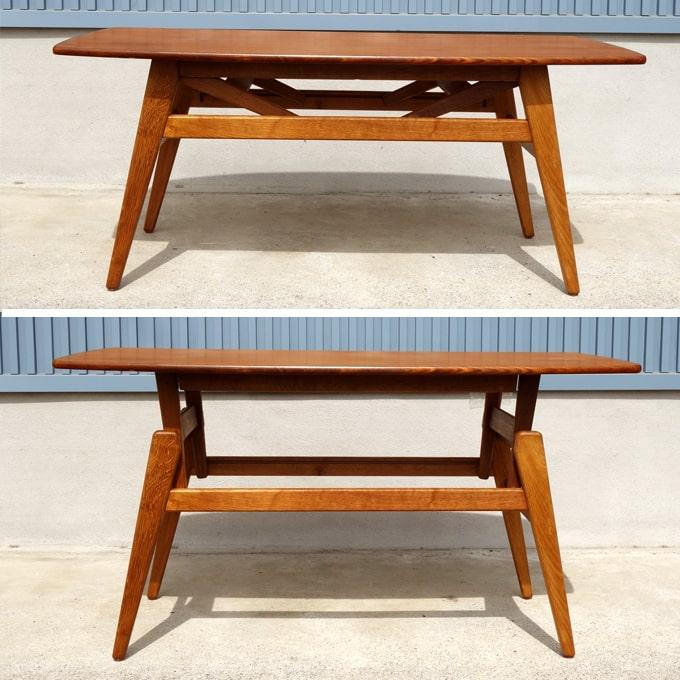 北欧ヴィンテージテーブル 高さ調節できる