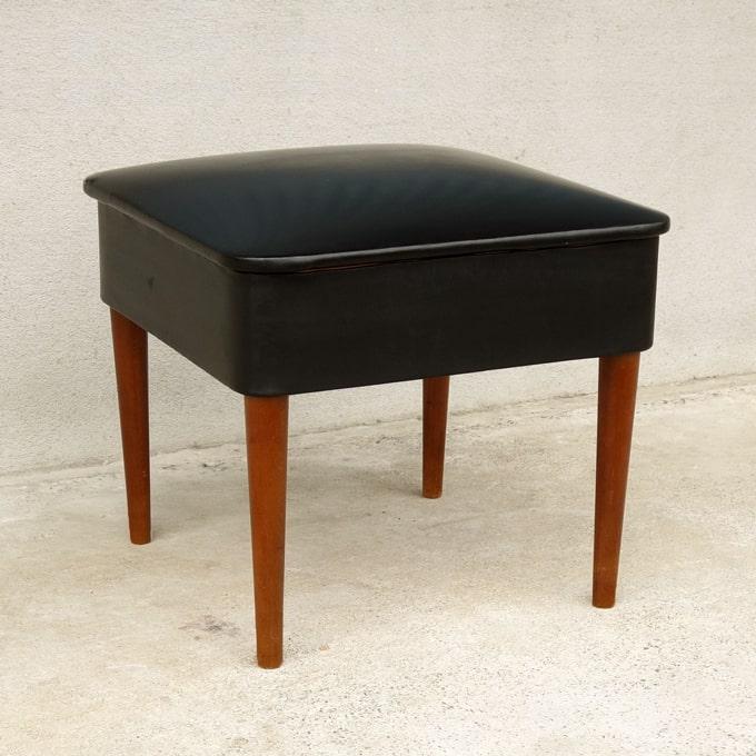 北欧ヴィンテージ椅子 黒スツール