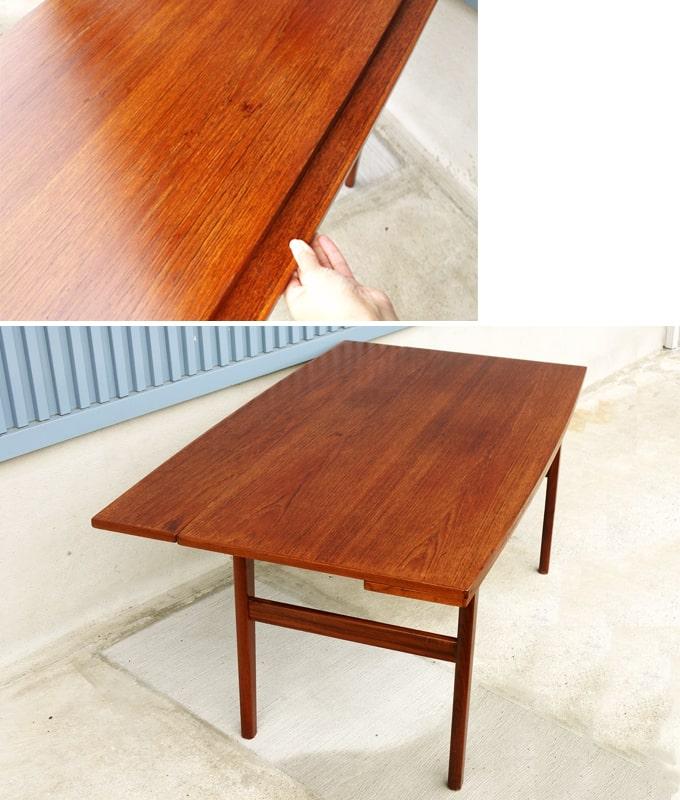 ヴィンテージ木製テーブル 高さ調節できる