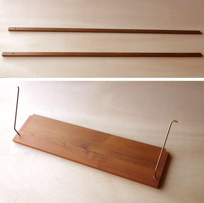 壁に取り付けるタイプの5段シェルフ