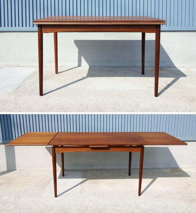 北欧のエクステンション・ダイニングテーブル