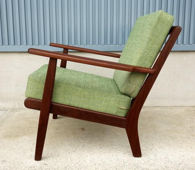 ヴィンテージ椅子 グリーンファブリック