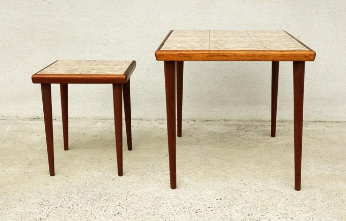 ビンテージのミニテーブル2個組