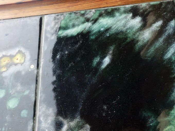 黒タイルテーブル 天板