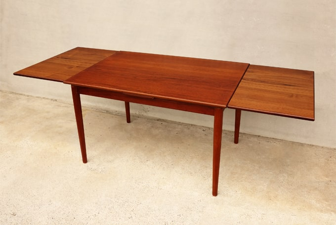 ヴィンテージ木製エクステンションテーブル
