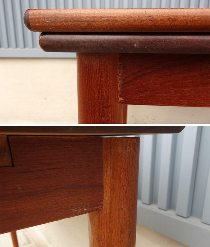 テーブル淵と幕板
