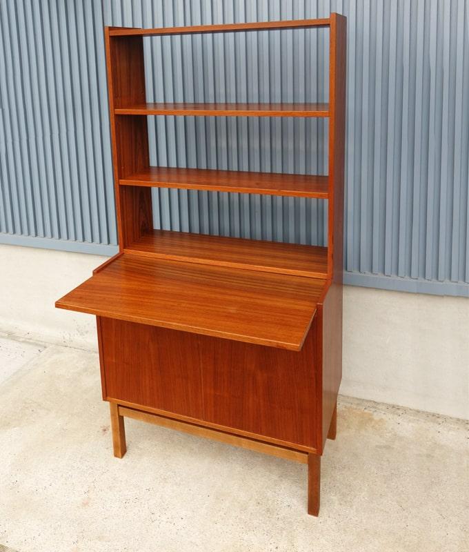ヴィンテージ木製ブックシェルフ ビューロー