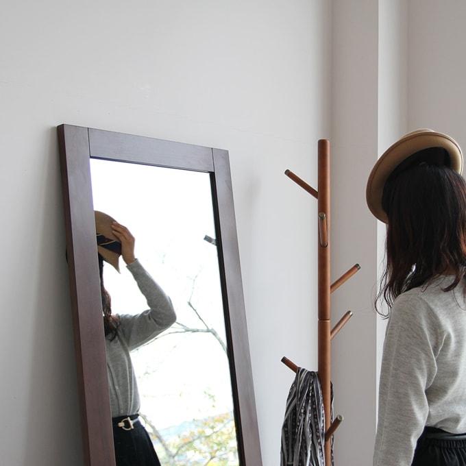 木枠ミラー 姿見(全身鏡)