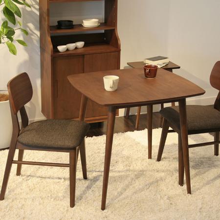 ウォルナット製カフェテーブル