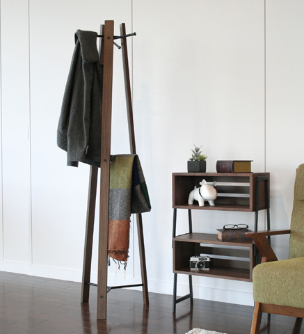 木製アイアン ハンガースタンド