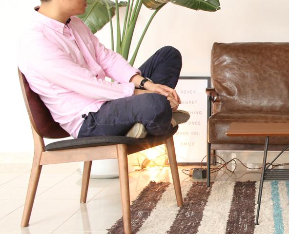1人掛けソファ感覚で座れます