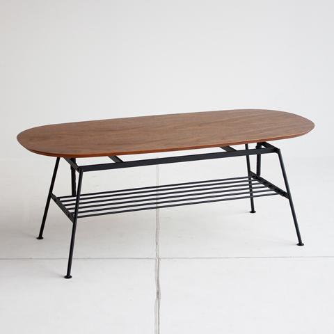 ウォールナット高さ調整できるコーヒーテーブル