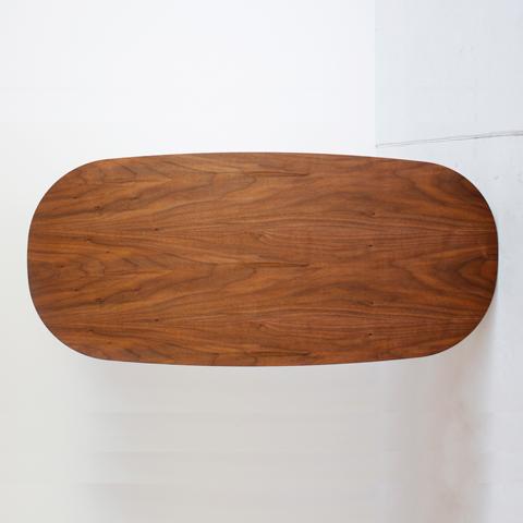 ウォールナット天然木ローテーブル