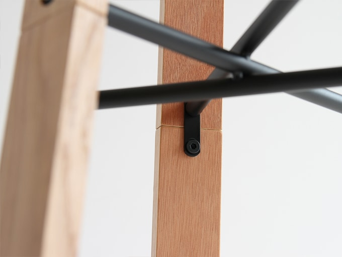 木製ハンガースタンド 接続部分