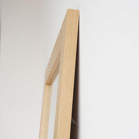 オーク木枠スタンドミラー