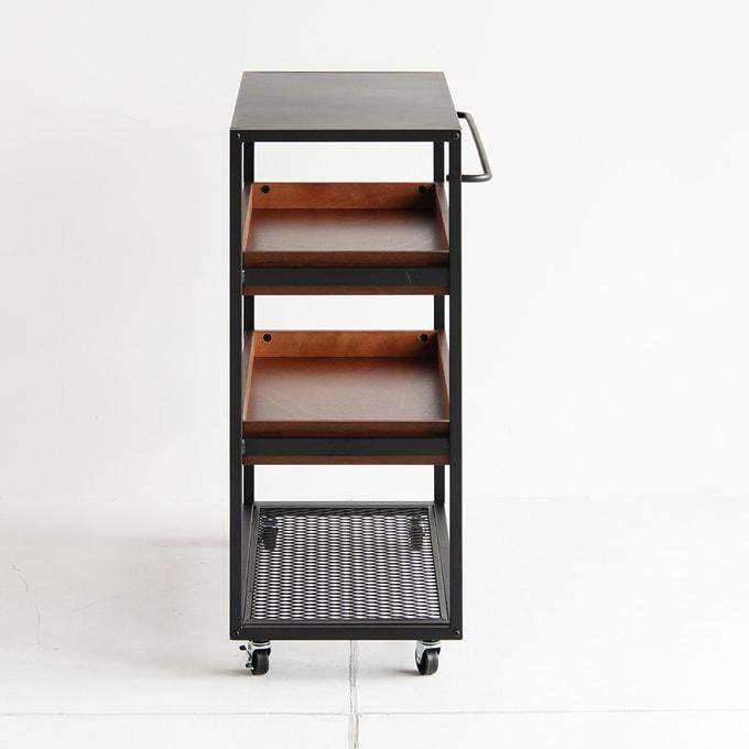 ワゴン型オープンシェルフ おしゃれ家具
