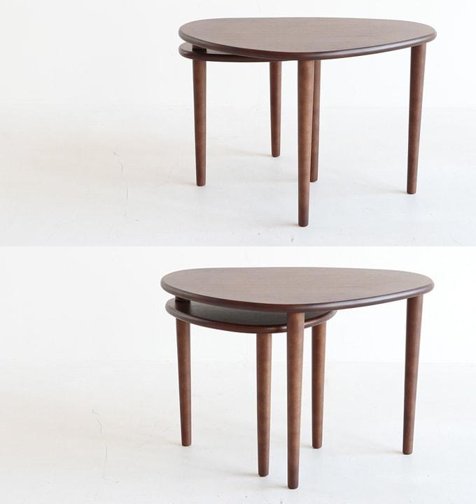 2段スイングテーブル ネストテーブル