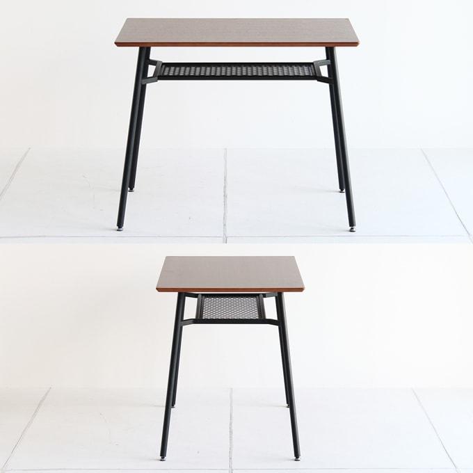 ウォールナットと鉄脚のダイニングテーブル