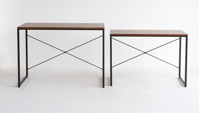 シンプルな鉄脚デスク(ネストテーブル)