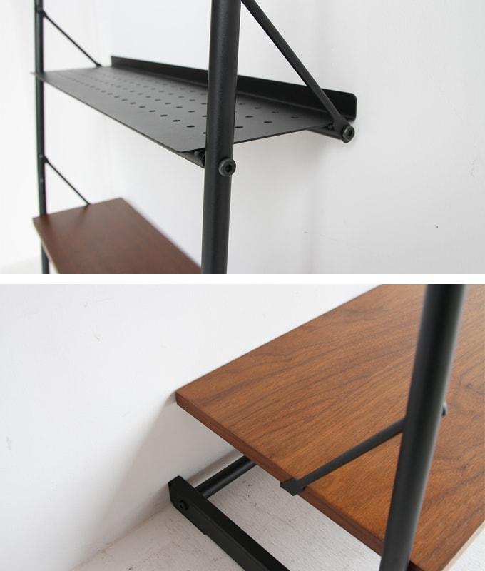 ウォールナットと鉄脚のラック 棚板
