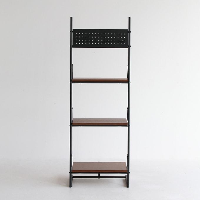 ウォールナット棚板と鉄脚のフリーラック幅46cm