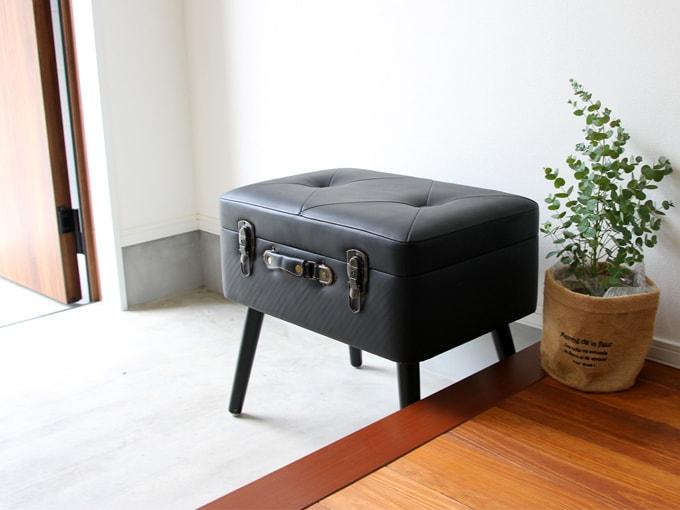 玄関椅子に最適な収納付きボックススツール