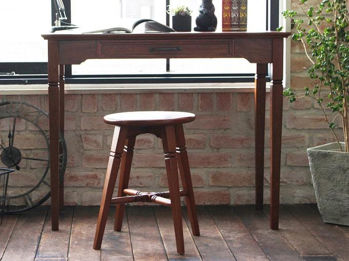 アンティーク調スツール 木製