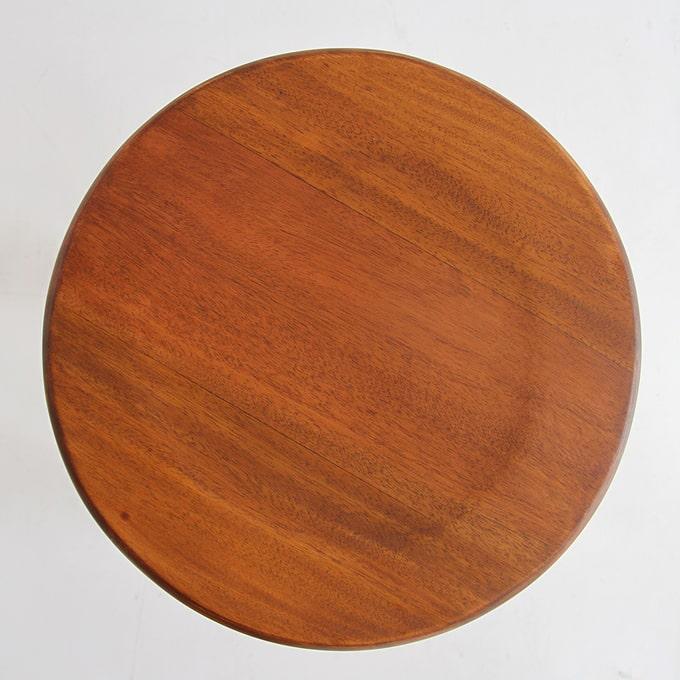 まるい木製スツール 座面
