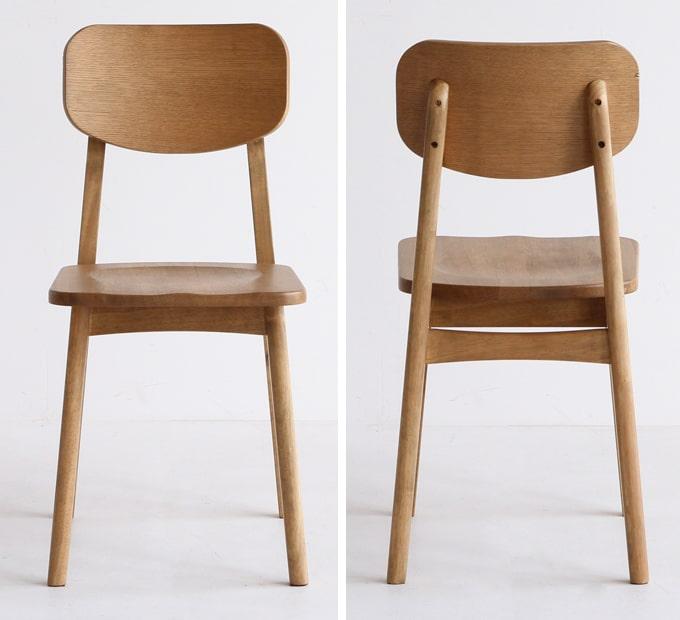 レトロナチュラルな椅子 木製