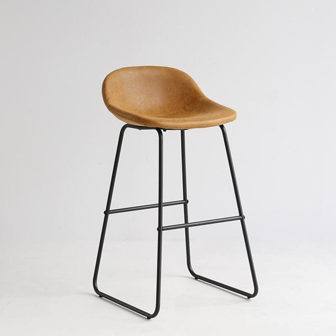 背の高い椅子 ハイスツール キャメル