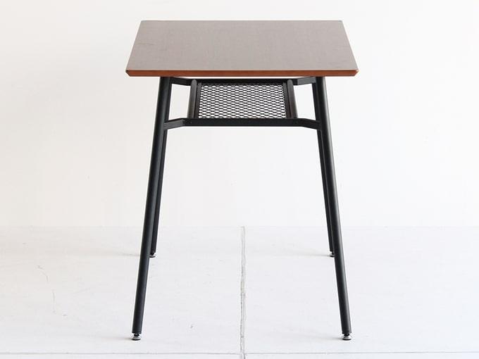 ウォールナットと鉄脚のテーブル 側面