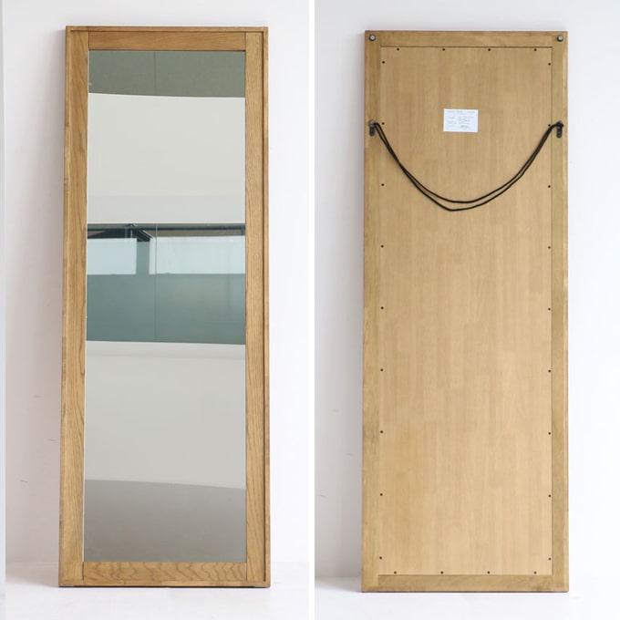 木枠ウォールミラー 全身鏡